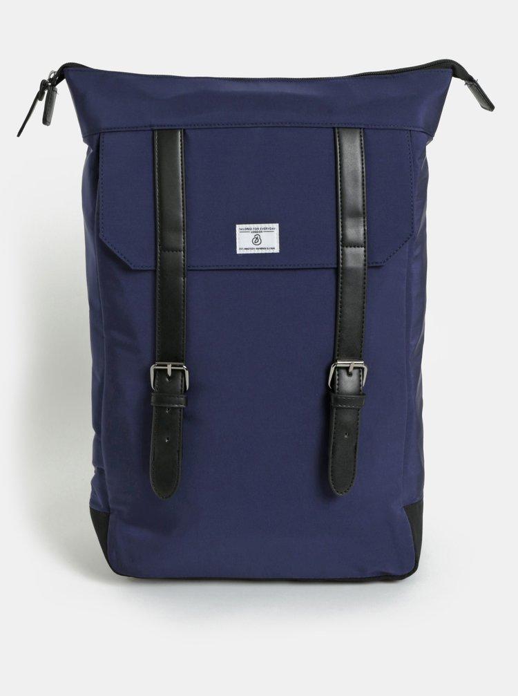 Tmavě modrý batoh s přezkami Burton Menswear London