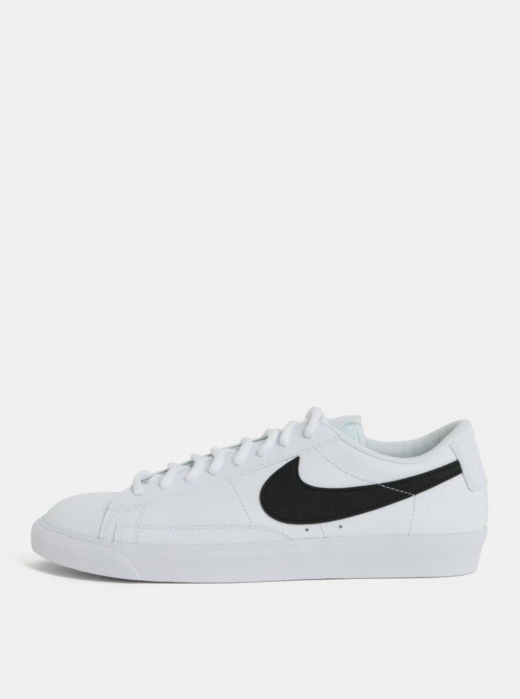 Biele pánske kožené tenisky Nike Blazer Low