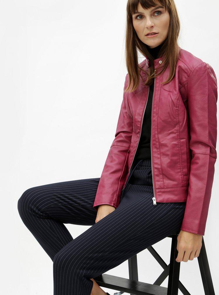 Jacheta roz inchis din piele sintetica Jacqueline de Yong Dallas