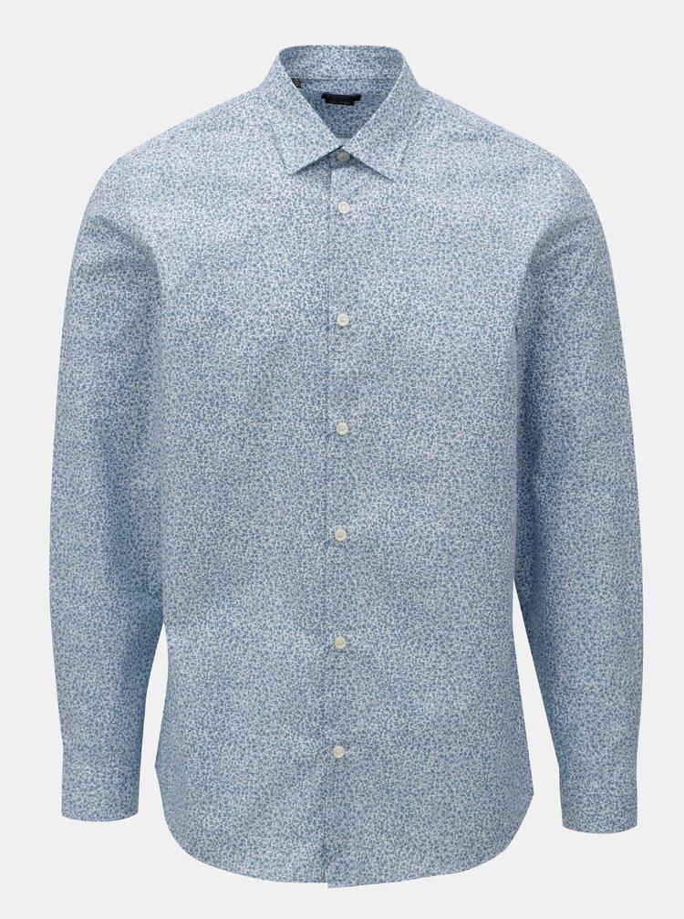 Camasa albastru deschis cu model si maneci lungi Selected Homme Regpen