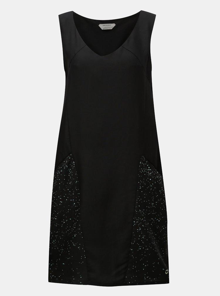 Černé šaty s kapsami SKFK Adi