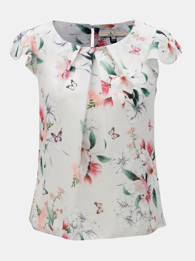 Bluza gri deschis cu model si volane la gat Billie & Blossom Petite