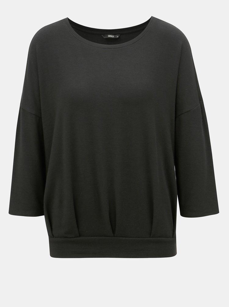 Tricou negru lejer ONLY Mida