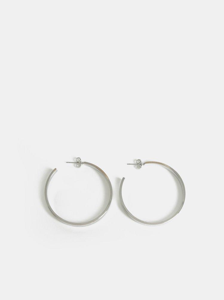 Kruhové náušnice ve stříbrné barvě  Pieces Jodi