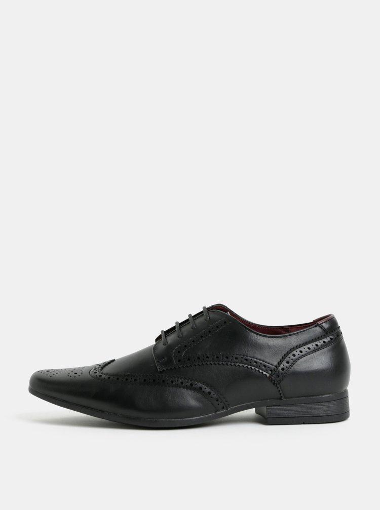 Pantofi barbatesti brogue negri Burton Menswear London