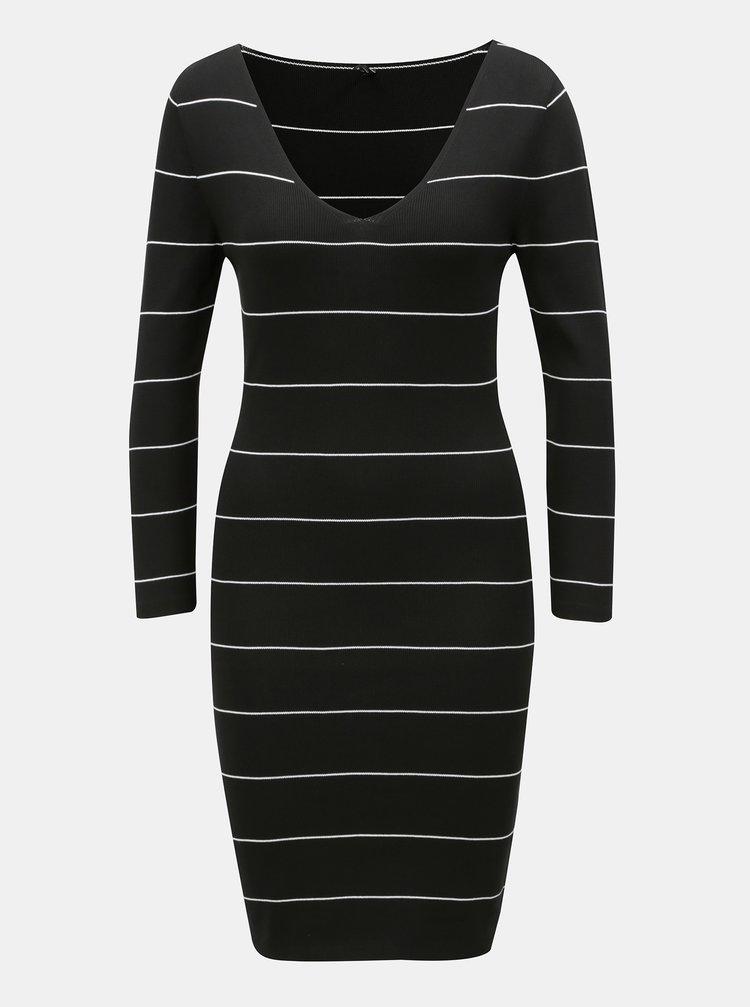 Černé vzorované svetrové šaty ONLY Galanty
