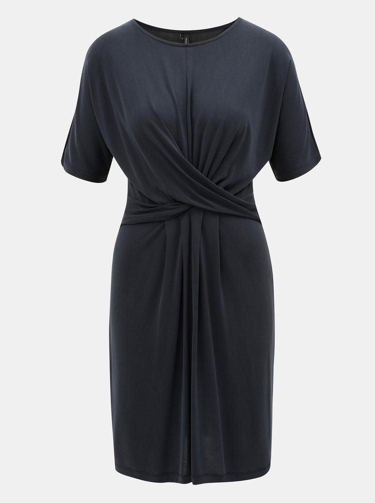 Tmavě modré šaty s překříženými pásy v přední části VERO MODA