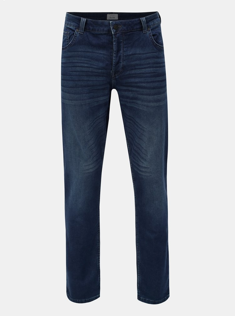 Blugi albastru inchis slim fit din denim ONLY & SONS Loom