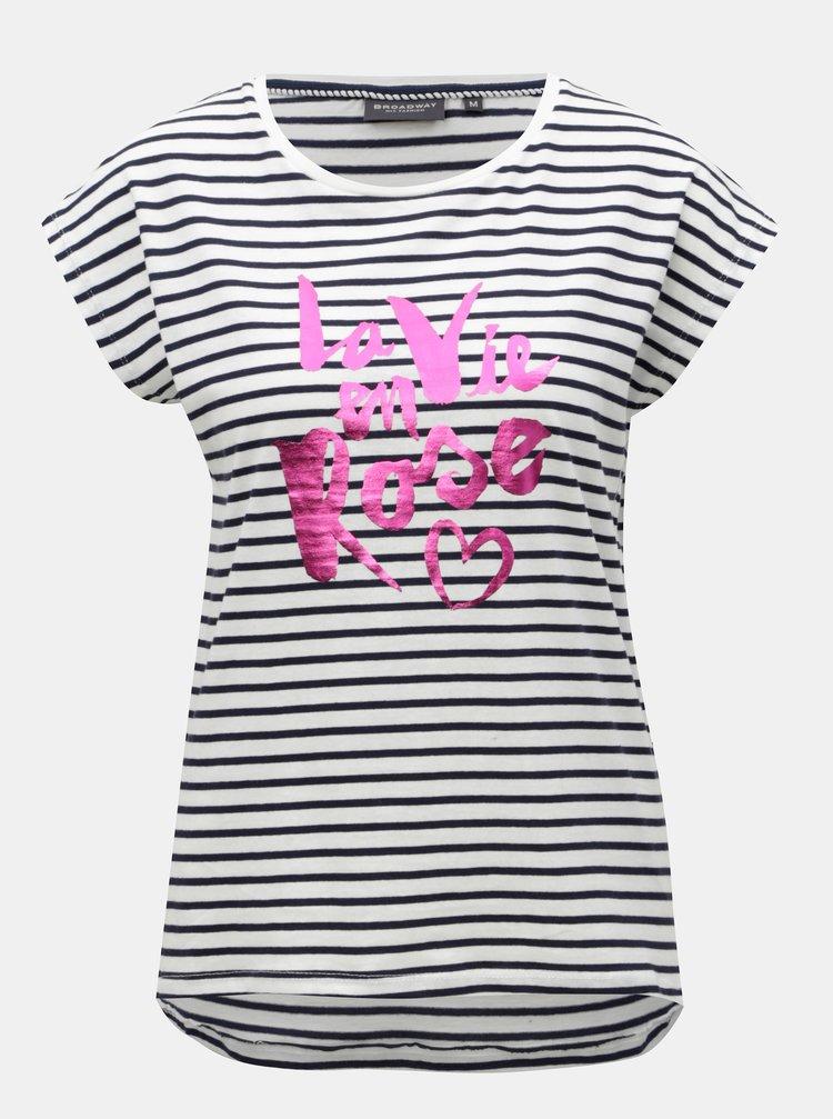 Modro-bílé dámské pruhované tričko Broadway Gannet