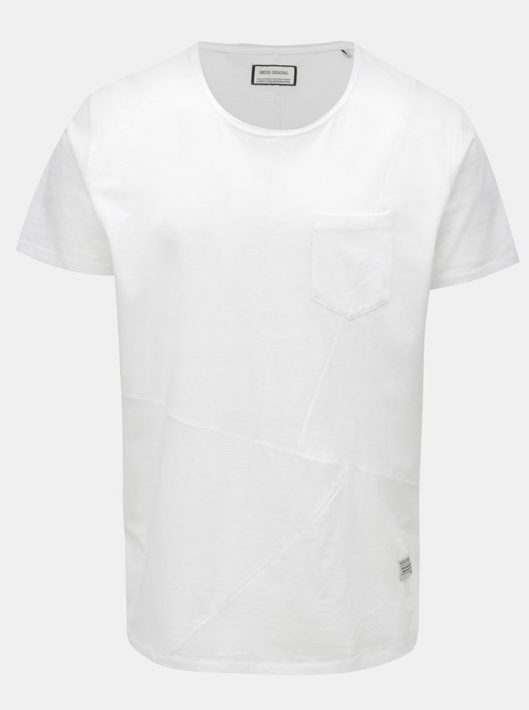 Tricou matlasat alb cu buzunar la piept Shine Original