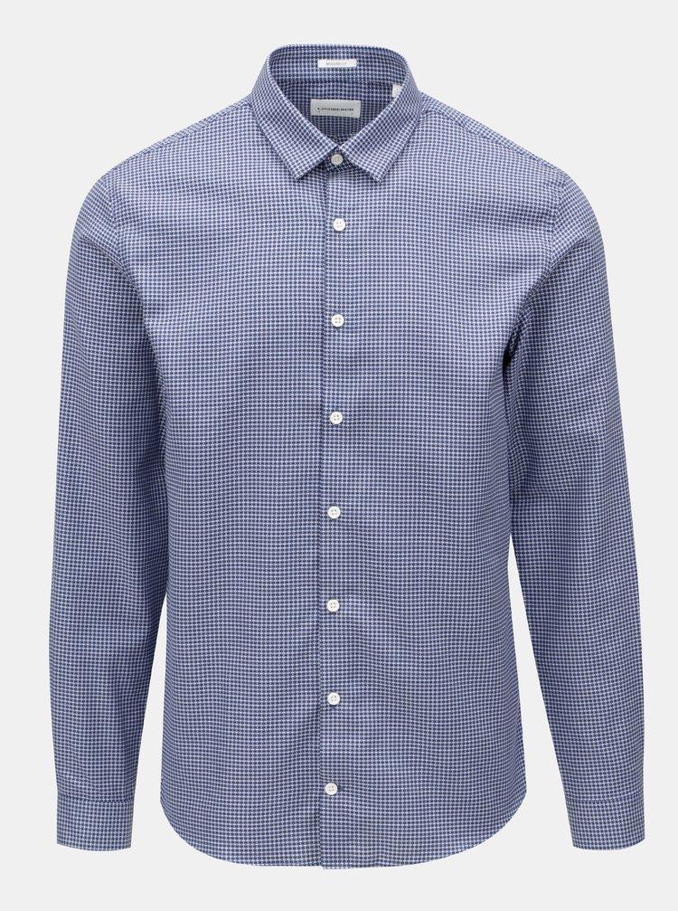 Bielo-modrá vzorovaná košeľa Lindbergh