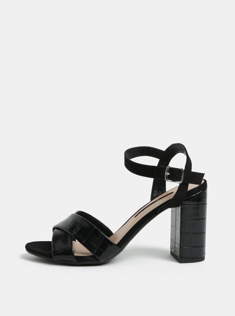Čierne sandále na vysokom podpätku Dorothy Perkins Serena