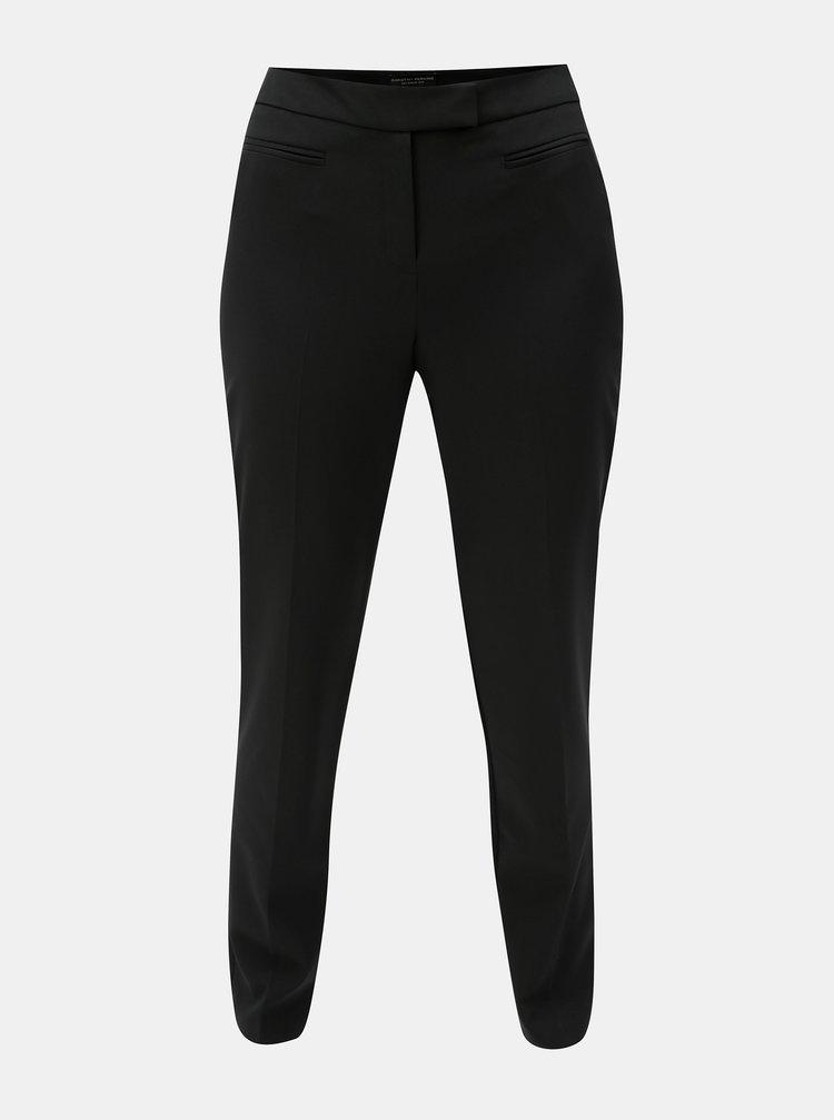 Černé straight kalhoty s puky Dorothy Perkins