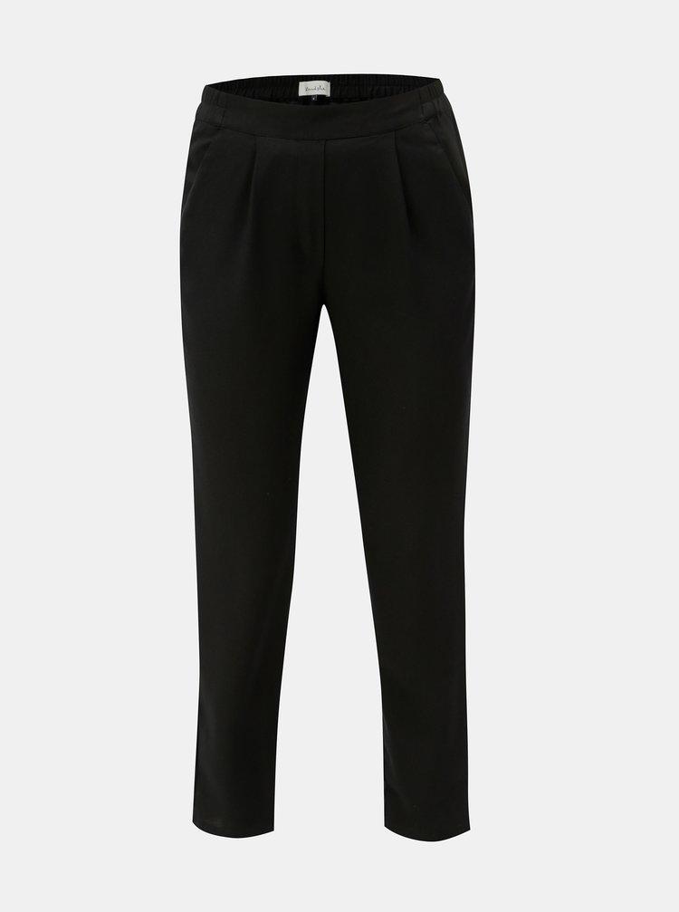 Čierne skrátené nohavice s vysokým pásom Blendshe Sacha