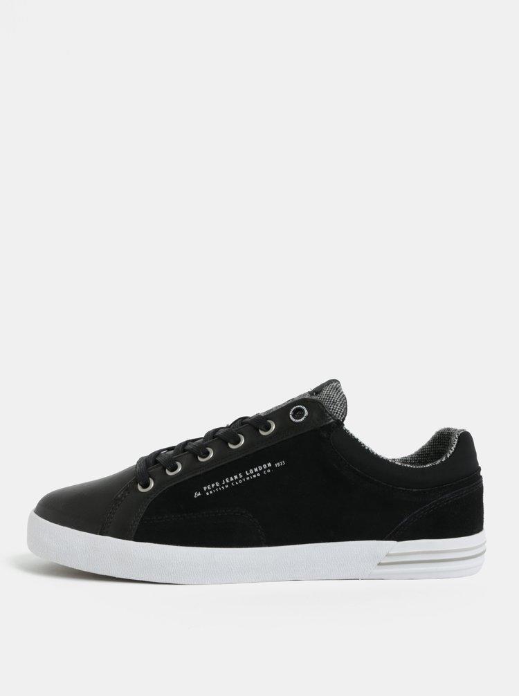 ... Černé pánské kožené tenisky Pepe Jeans North cc31c83aeff
