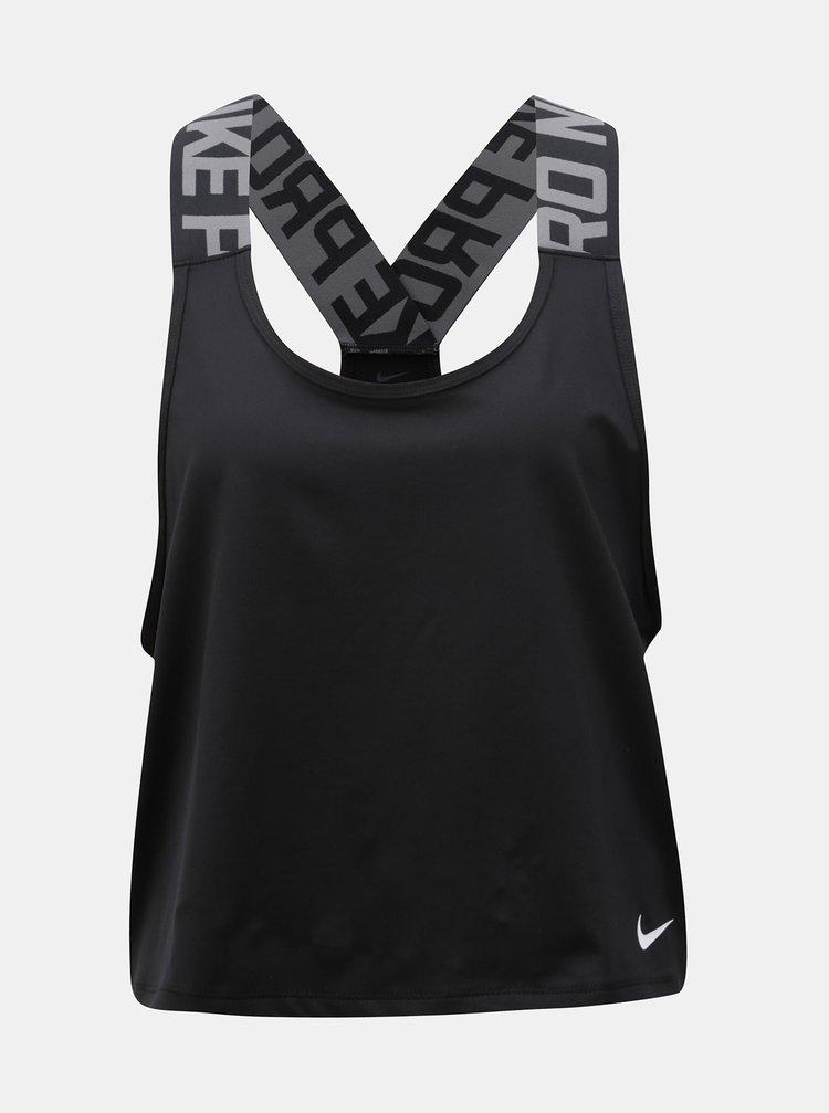 Černé dámské krátké funkční tílko Nike Pro Intertwist