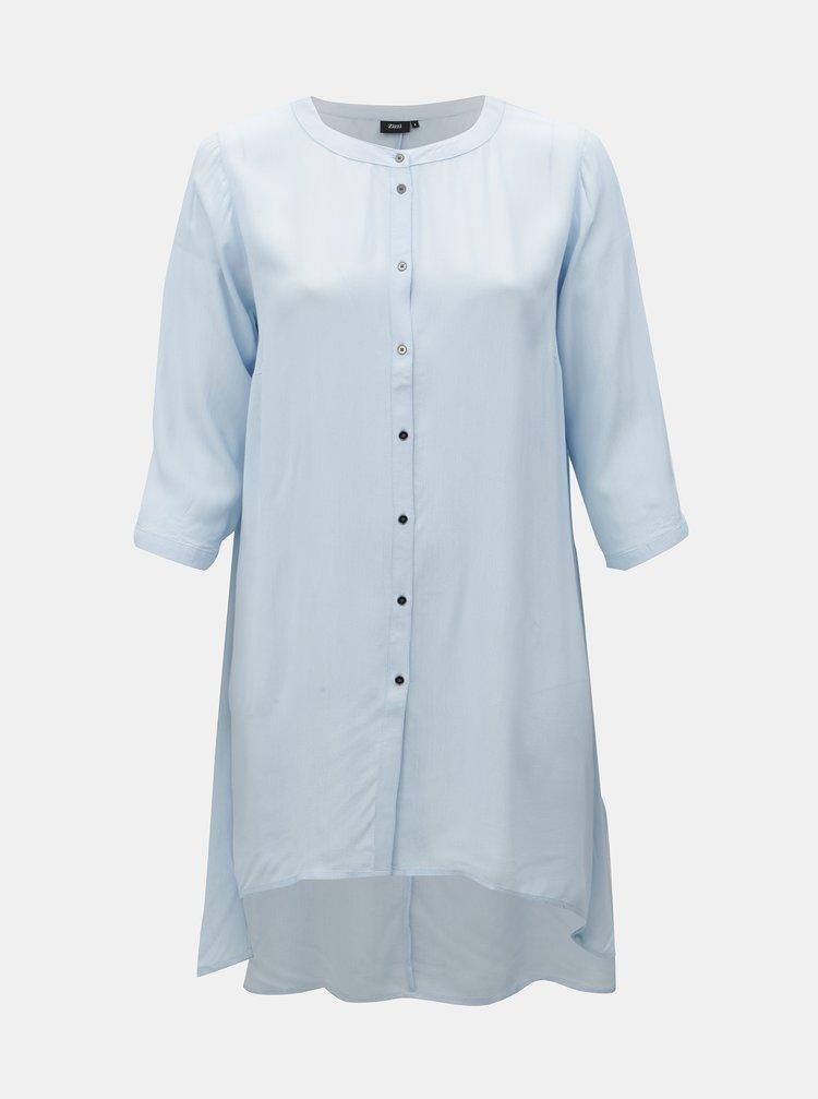 Bluza albastru deschis cu croi mai lung Zizzi Rosa