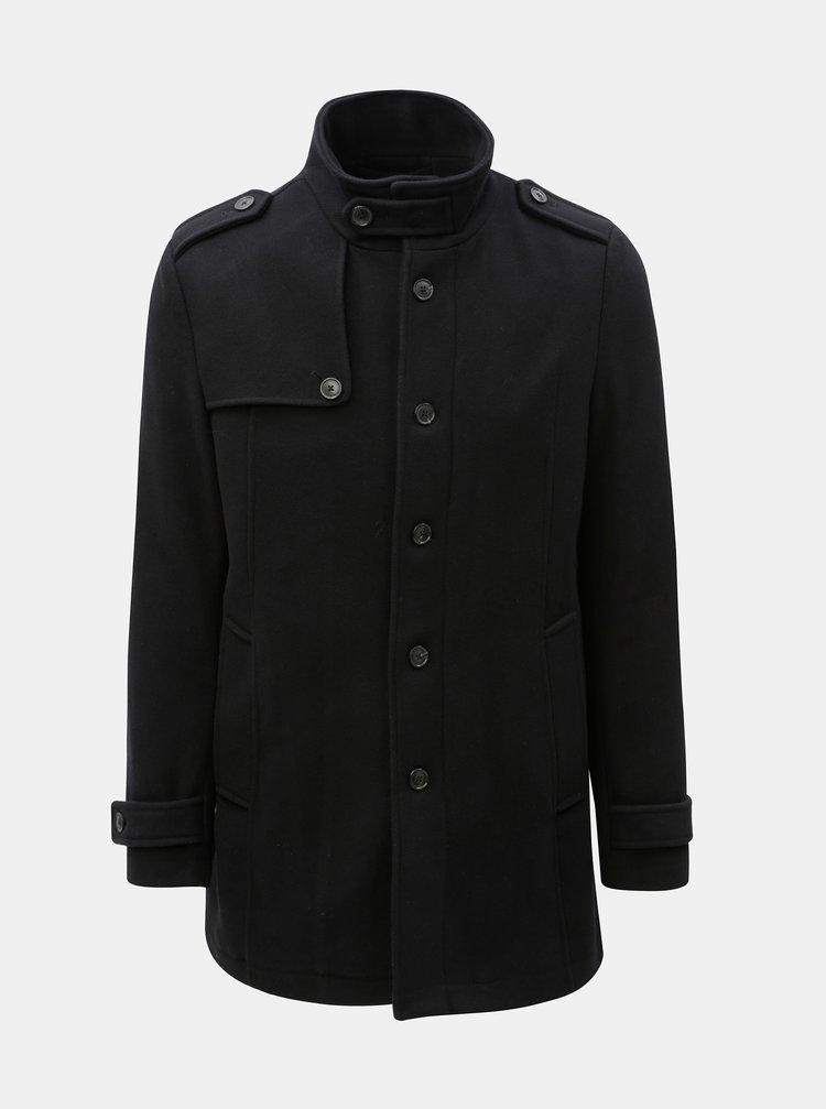 Černý vlněný kabát Selected Homme Cevent