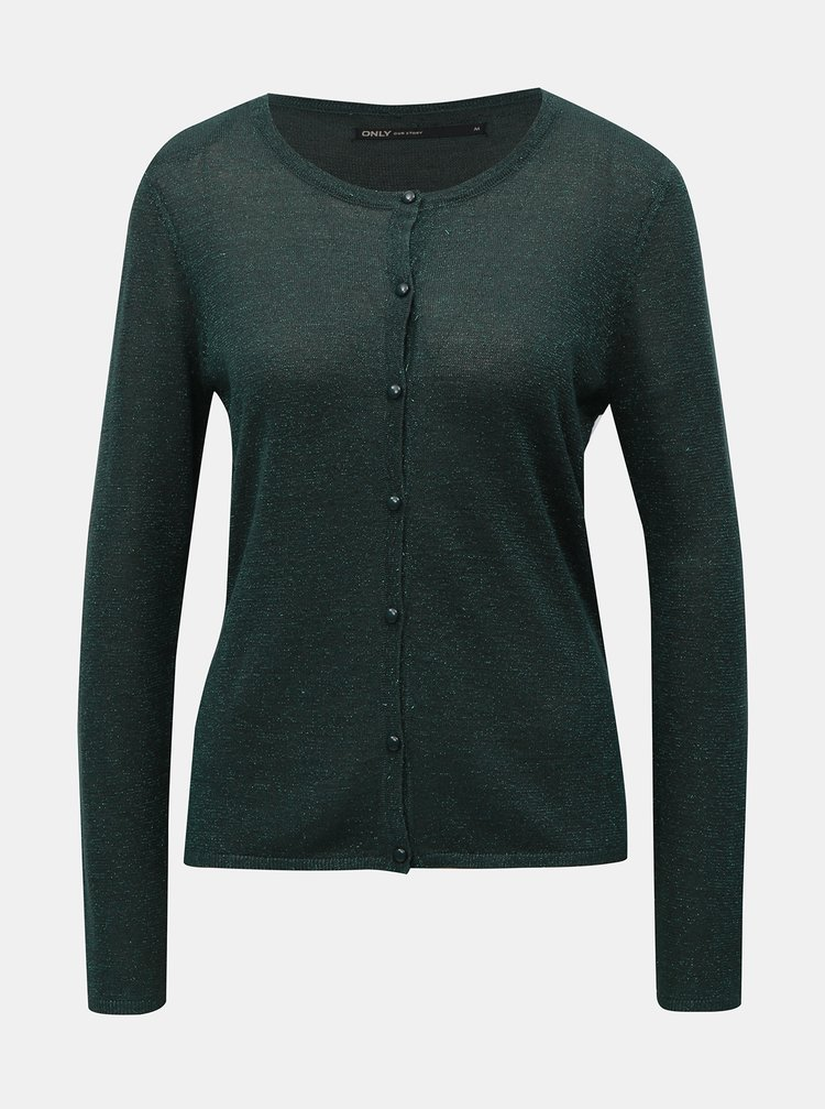 Cardigan verde stralucitor ONLY Darling