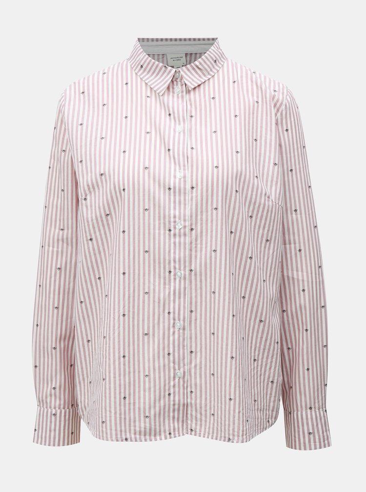 Růžová vzorovaná košile Jacqueline de Yong Eddie