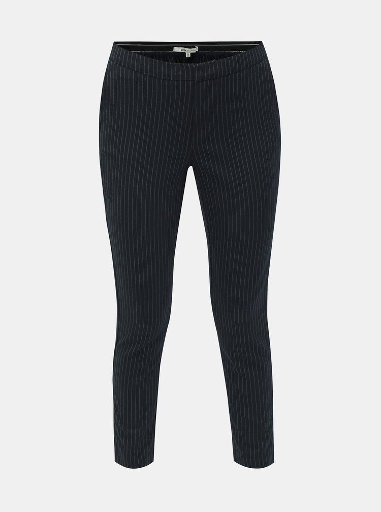 Pantaloni albastru inchis crop cu model ONLY Aster