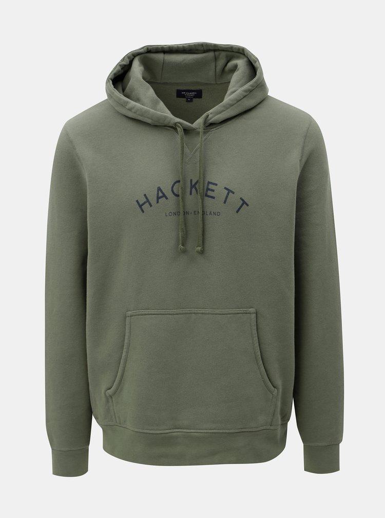 Khaki classic fit mikina s kapucí Hackett London