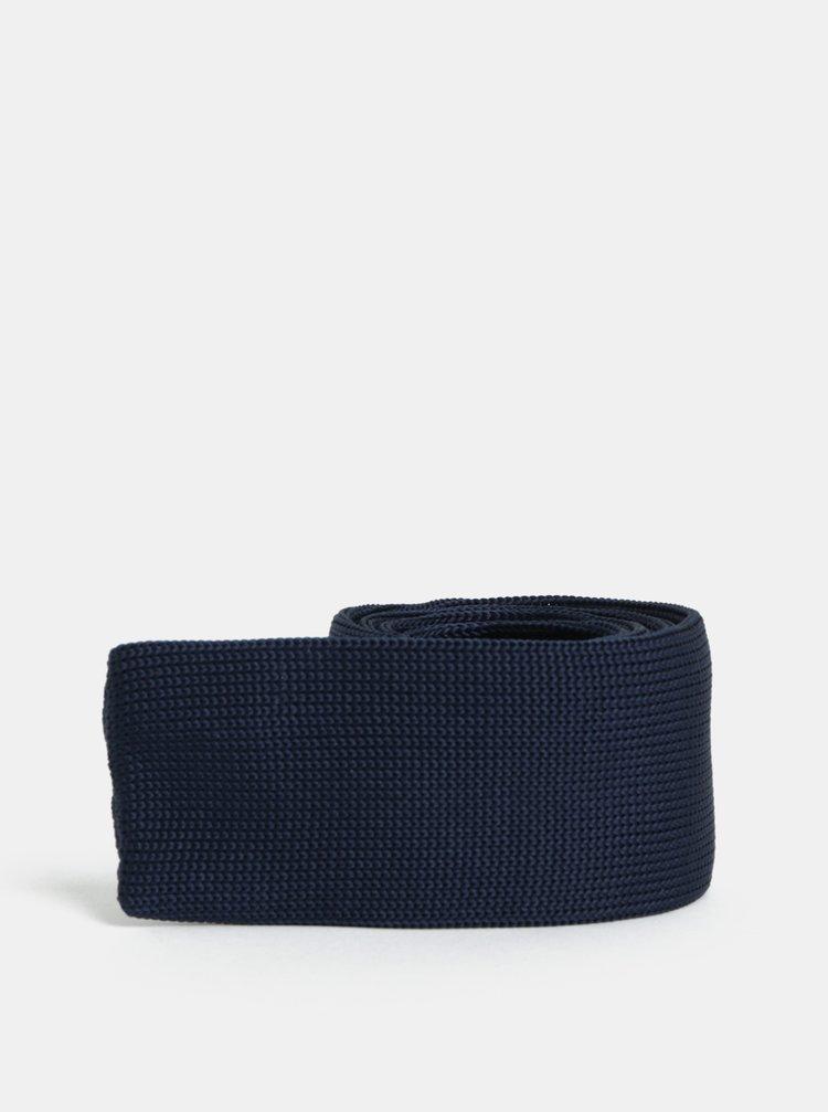 Tmavě modrá pletená slim kravata Selected Homme Vilhelm