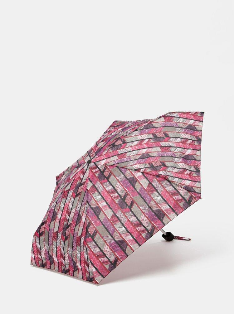 Fialovo-vínový skládací vzorovaný deštník Rainy Seasons