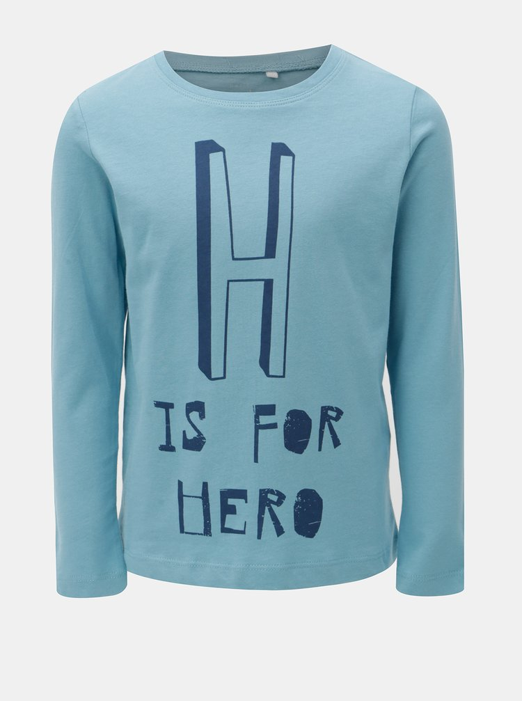 Modré klučičí tričko s potiskem Name it Victor