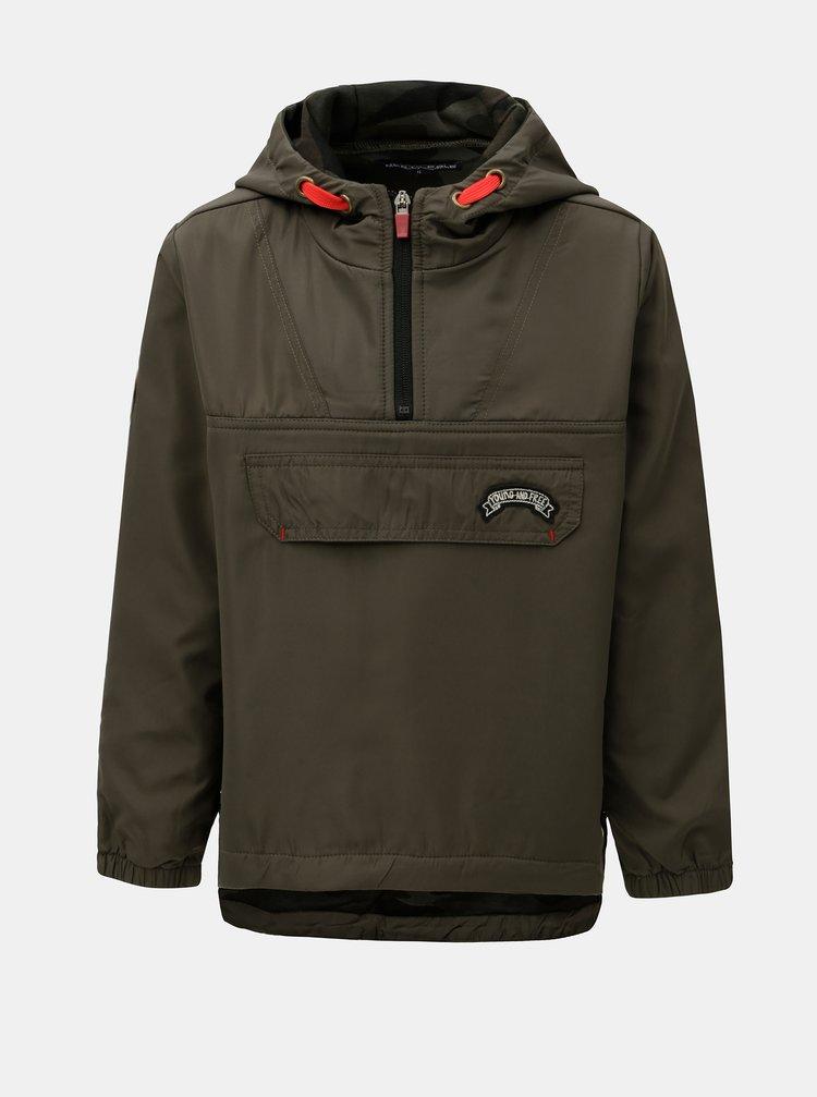 Khaki klučičí lehká bunda s nášivkami  North Pole Kids