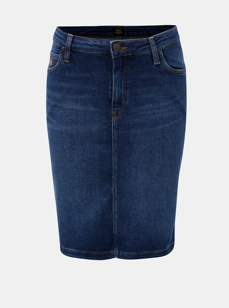 Modrá rifľová sukňa Lee
