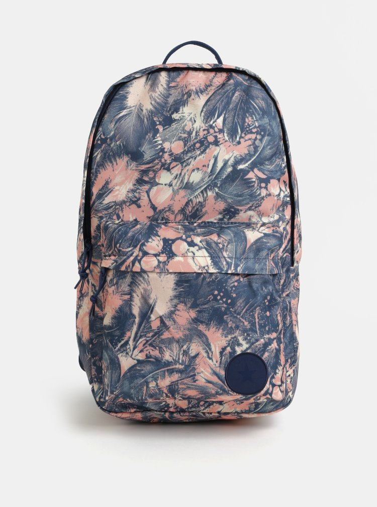 Růžovo-modrý dámský vzorovaný batoh Converse EDC Backpack 19l