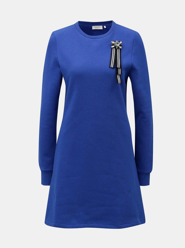 Modré mikinové šaty Rich & Royal
