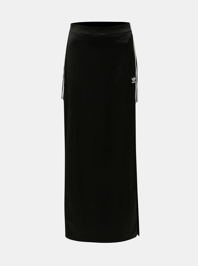 Fusta maxi neagra cu slituri adidas Originals