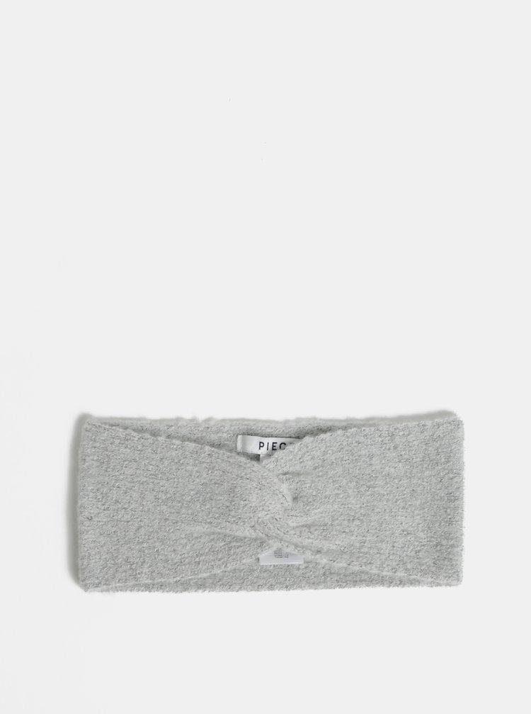 Bentita gri deschis melanj cu amestec de lana Pieces Diana