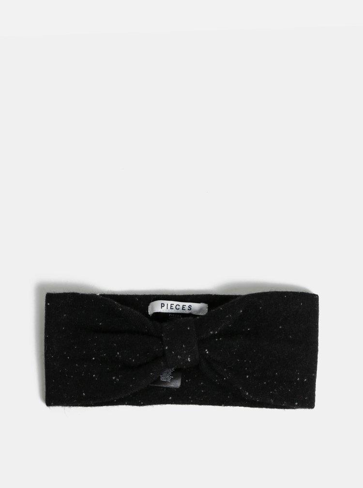 Bentita neagra cu model discret Pieces Fiona