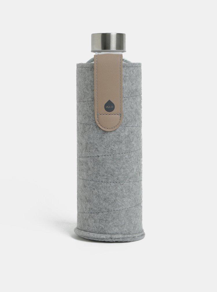 Skleněná láhev na vodu s textilním obalem  EQUA 750 ml