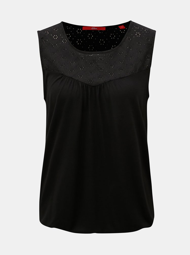 Bluza neagra cu madeira s.Oliver