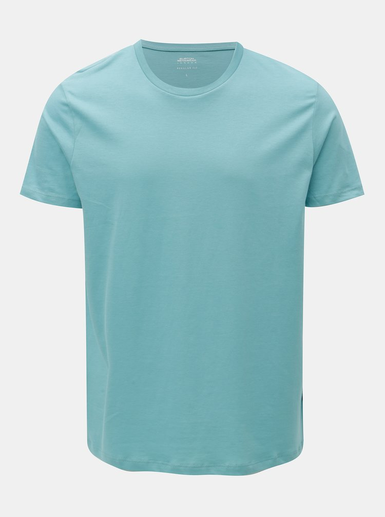 Tricou albastru deschis basic regular fit Burton Menswear London