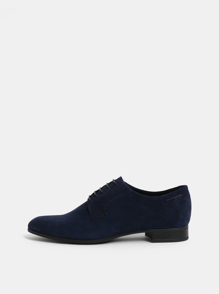 Pantofi de dama albastru inchis din piele intoarsa Vagabond Frances