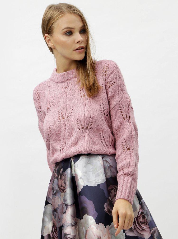 Ružový sveter VERO MODA Bubo