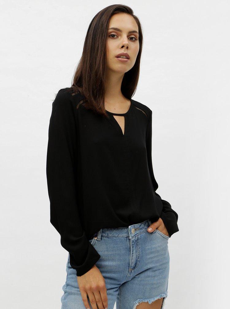 Bluza neagra cu maneci lungi VERO MODA Bella