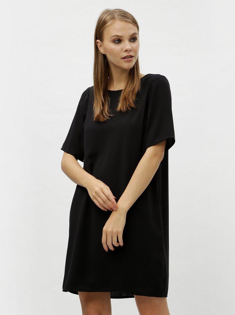 Černé šaty s průstřihem na zádech VERO MODA Gabby