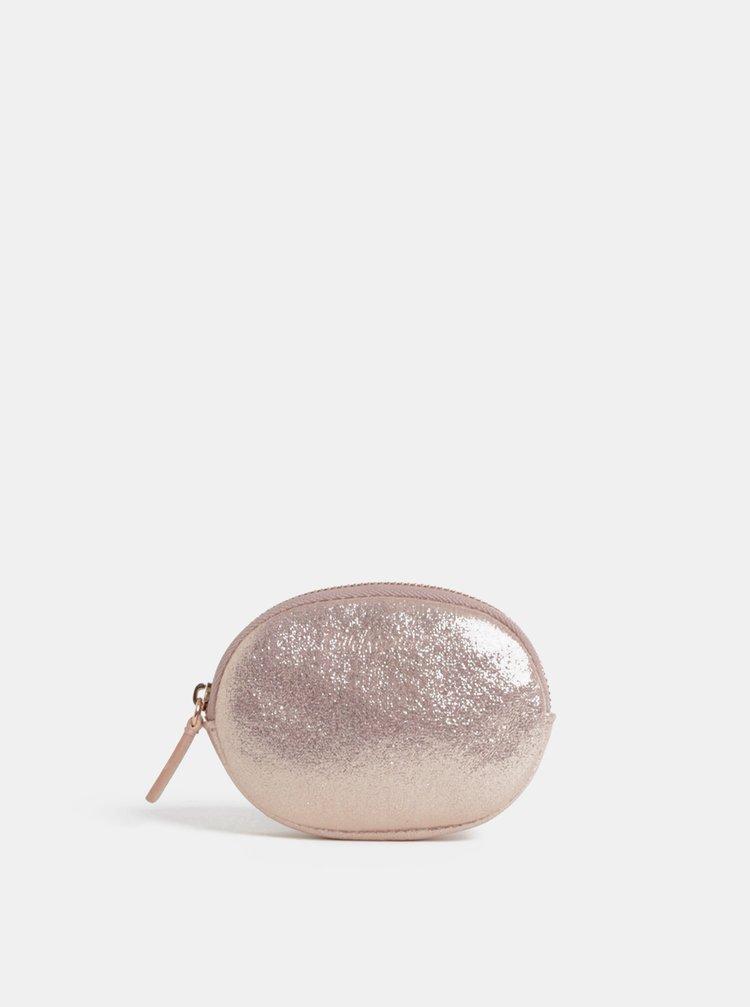 Svetloružová dámska trblietavá peňaženka na mince Cath Kidston