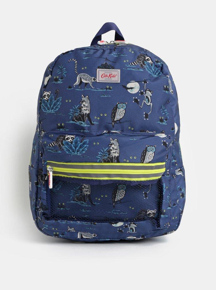 Tmavě modrý klučičí batoh s motivem zvířátek Cath Kidston
