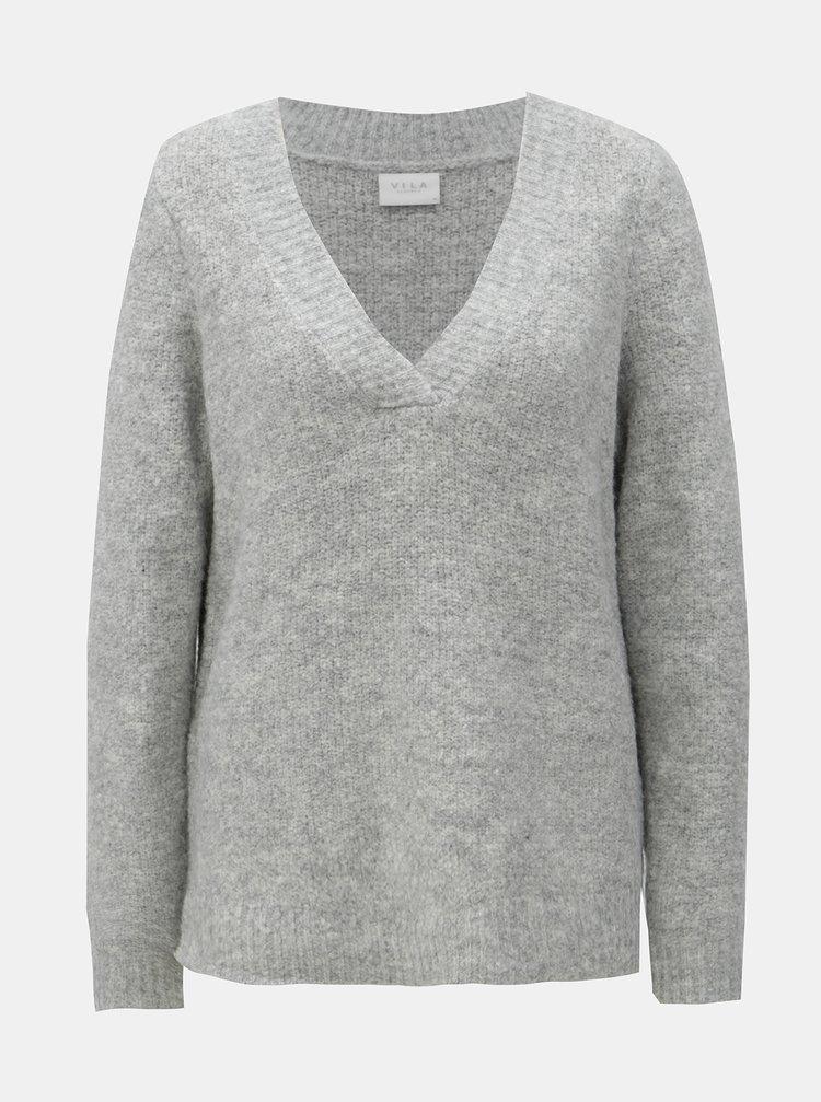 Pulover gri cu amestec de lana VILA Place