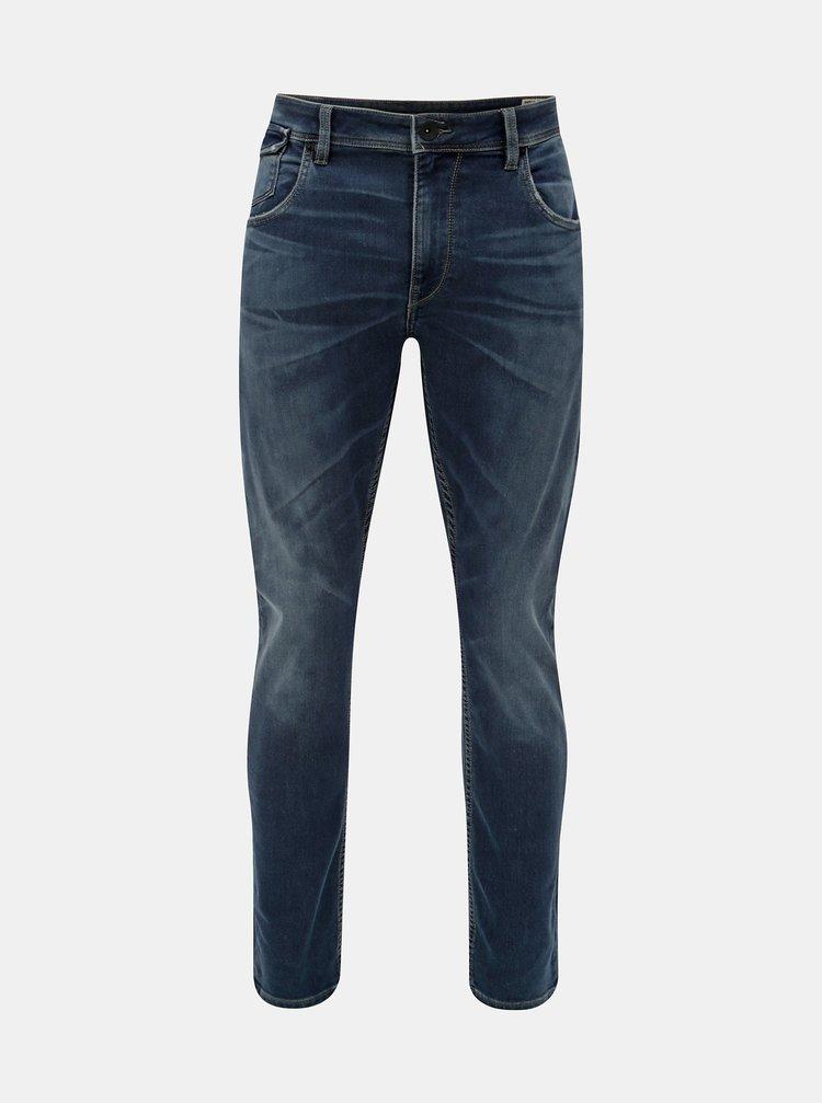 Modré pánske tapered fit rifle Garcia Jeans