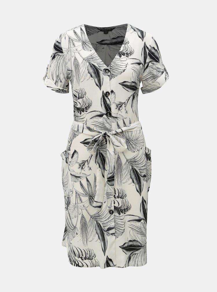 Rochie negru-crem cu model Dorothy Perkins