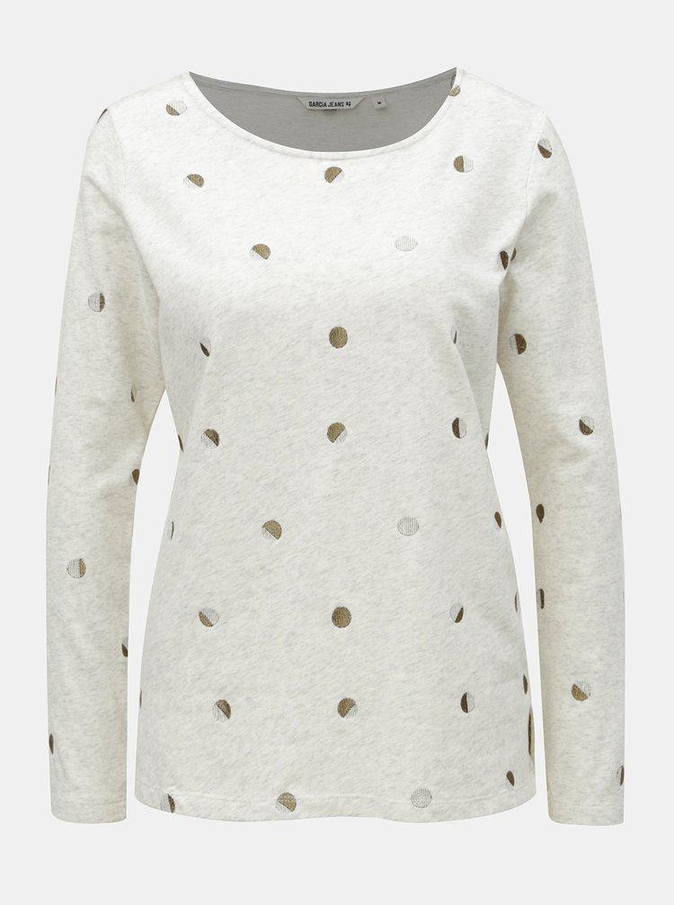 b786e52f2 Krémové bodkované tričko s dlhým rukávom Garcia Jeans | ZOOT.sk
