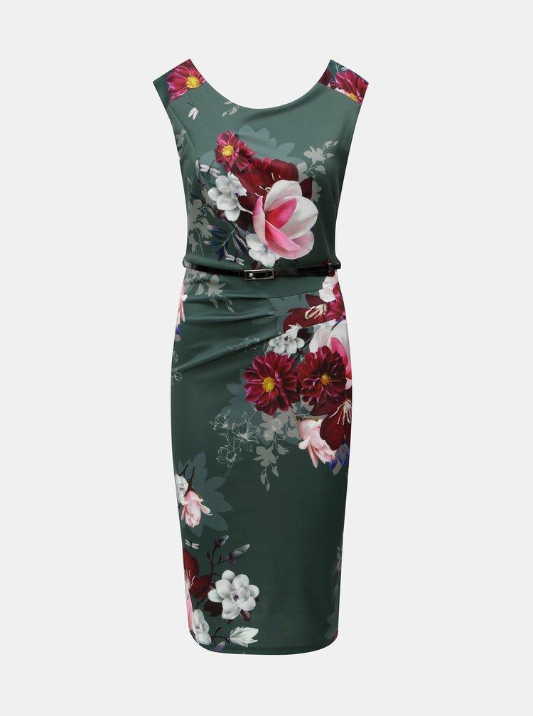 Rochie verde florala Scarlett B